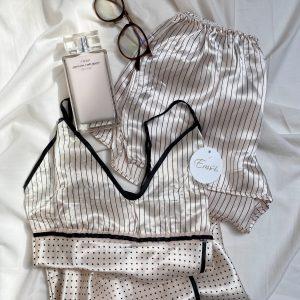 Pijama satín pantalón corto