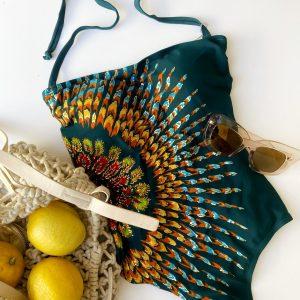Bañador flor cintura