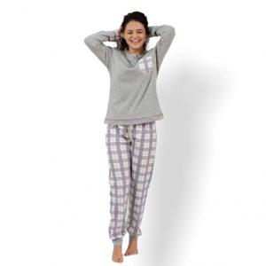 Pijama invierno pantalón cuadros