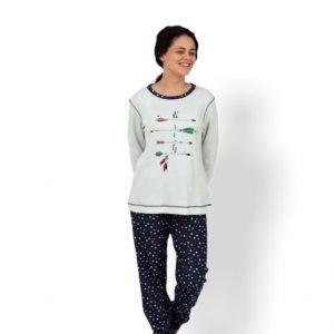 Pijama pantalón y camiseta larga flechas