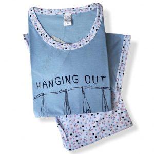 Pijama de pantalón pescador y camiseta manga corta