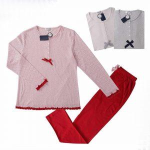 Pijama pantalón largo lacito decorativo