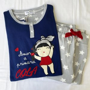 Pijama pantalón largo estrellas