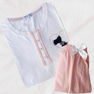 Pijama lunares pantalón corto