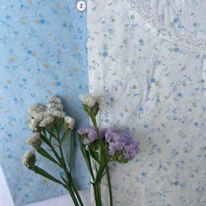 Camisón flores manga corta