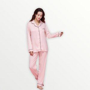 Pijama satín larga