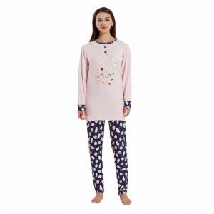 Pijama algodón felpado