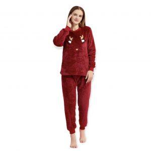 Pijama polar – luna navideña
